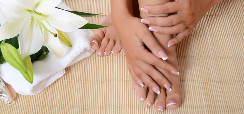 Manicured Nails on Bamboo